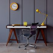 1 x Blue Suntree Ellwood Trestle Desk With a Dark Walnut Finish - RRP £280.00!