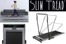 1 x Slim Tread Ultra Thin Smart Treadmill Running / Walking Machine - Lightweight With Folding