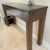 1 x Console Table With Drawer - Dimensions: 210 x 100cm x H73cm - NO VAT ON THE HAMMER -