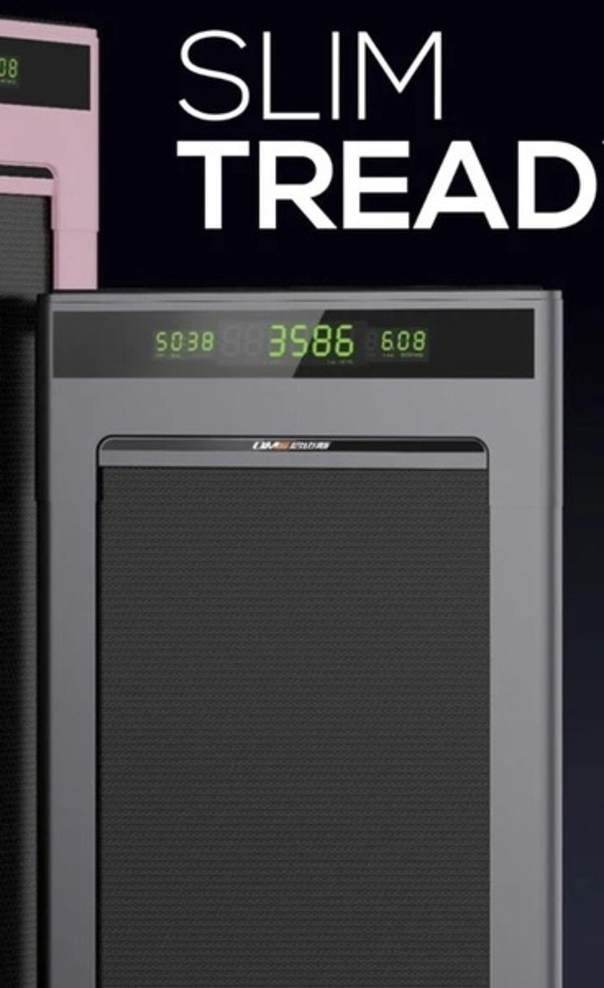 1 x Slim Tread Ultra Thin Smart Treadmill Running / Walking Machine - Lightweight With Folding - Image 17 of 19