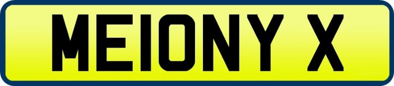 1 x Private Vehicle Registration Car Plate - ME10NY X -CL590 - Location: Altrincham WA14