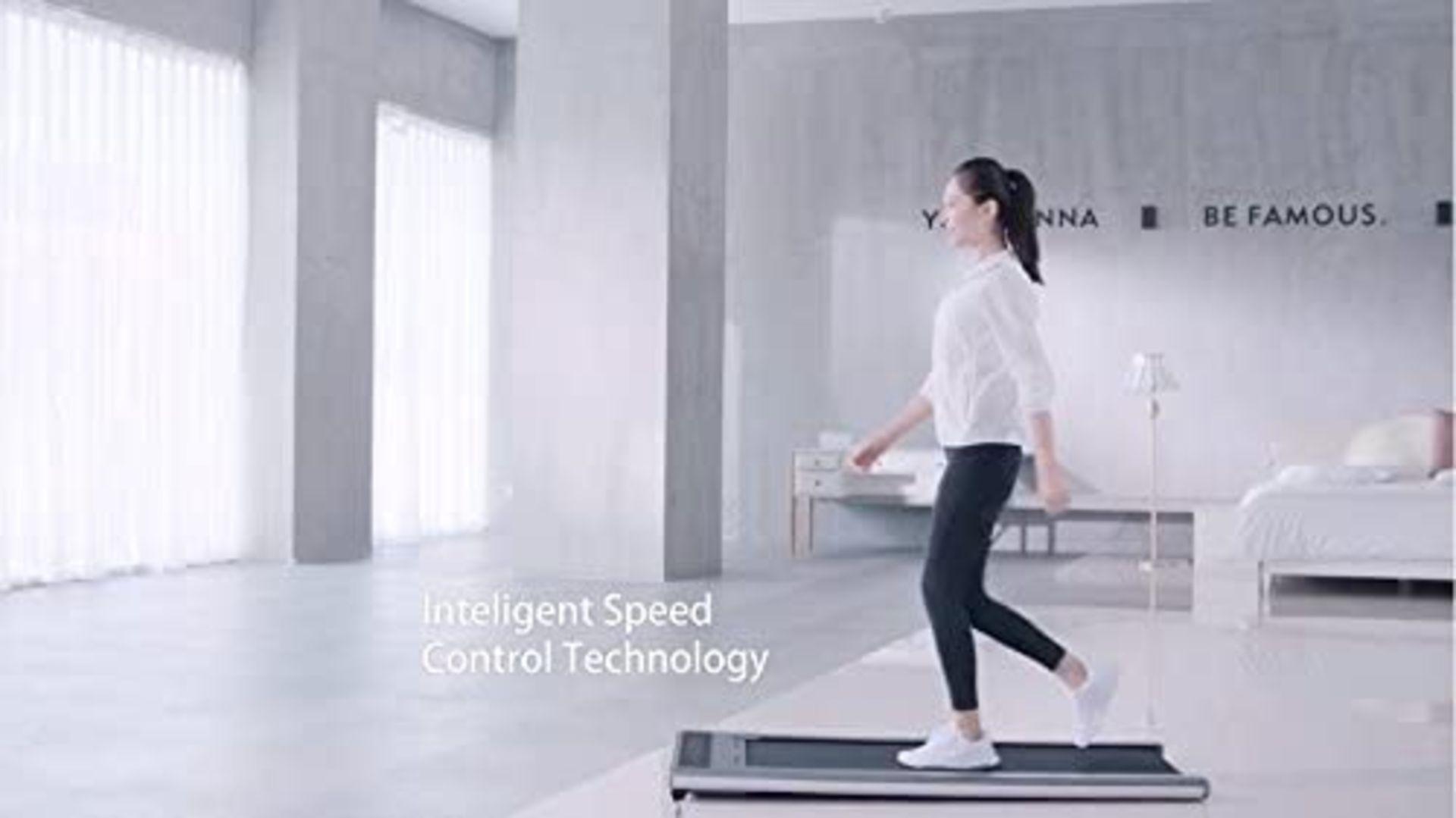 1 x Slim Tread Ultra Thin Smart Treadmill Running / Walking Machine - Lightweight With Folding - Image 16 of 19