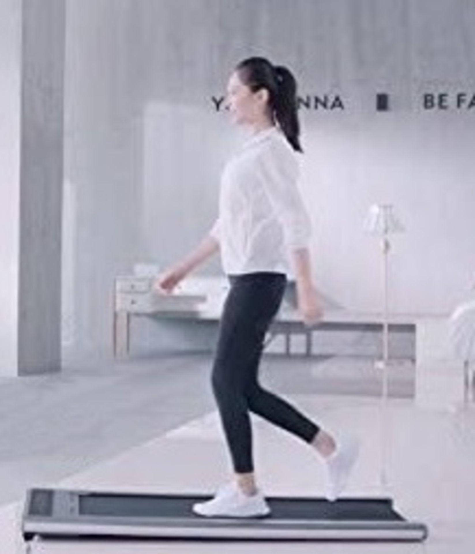 1 x Slim Tread Ultra Thin Smart Treadmill Running / Walking Machine - Lightweight With Folding - Image 2 of 23