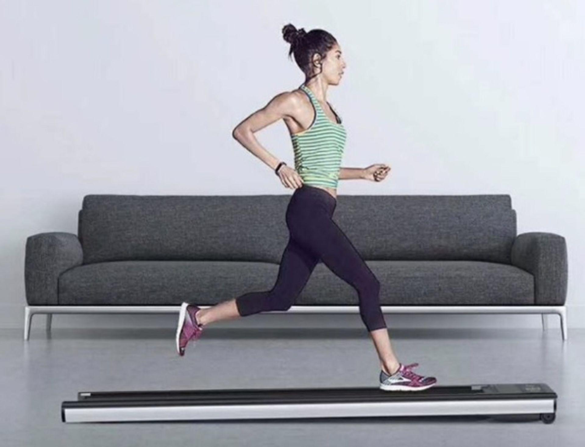 1 x Slim Tread Ultra Thin Smart Treadmill Running / Walking Machine - Lightweight With Folding - Image 11 of 19