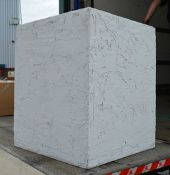 2 x Hand Finished Stone Effect / Concreted Display Plinths - Ex-Display