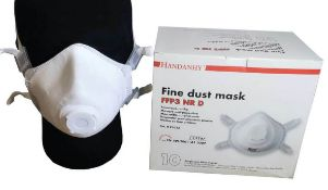 200 x Handanhy Fold Flat Disposable Face Masks With Exhalation Valves - Type HY8232 FFP3 - PPE