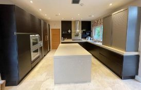 1 x Bespoke SIEMATIC Fitted Kitchen With Gaggenau Appliances, Silstone Worktops, Central Island