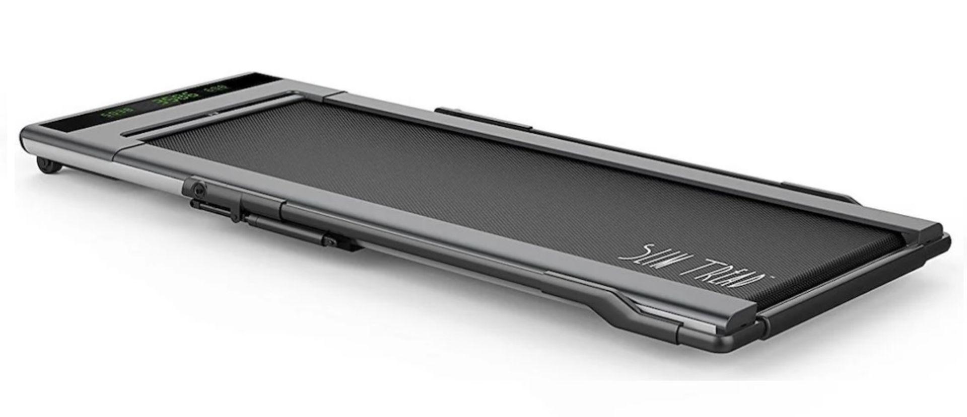 1 x Slim Tread Ultra Thin Smart Treadmill Running / Walking Machine - Lightweight With Folding - Image 7 of 19