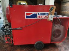 1 x Helios 150c Large Industrial Diesel Space Heater - CL573 - Location: Leicester LE1 This heater