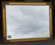 1 x Large Statement Mirror In A Gold Frame With An Aged Finish - Dimensions: 141 x 110cm