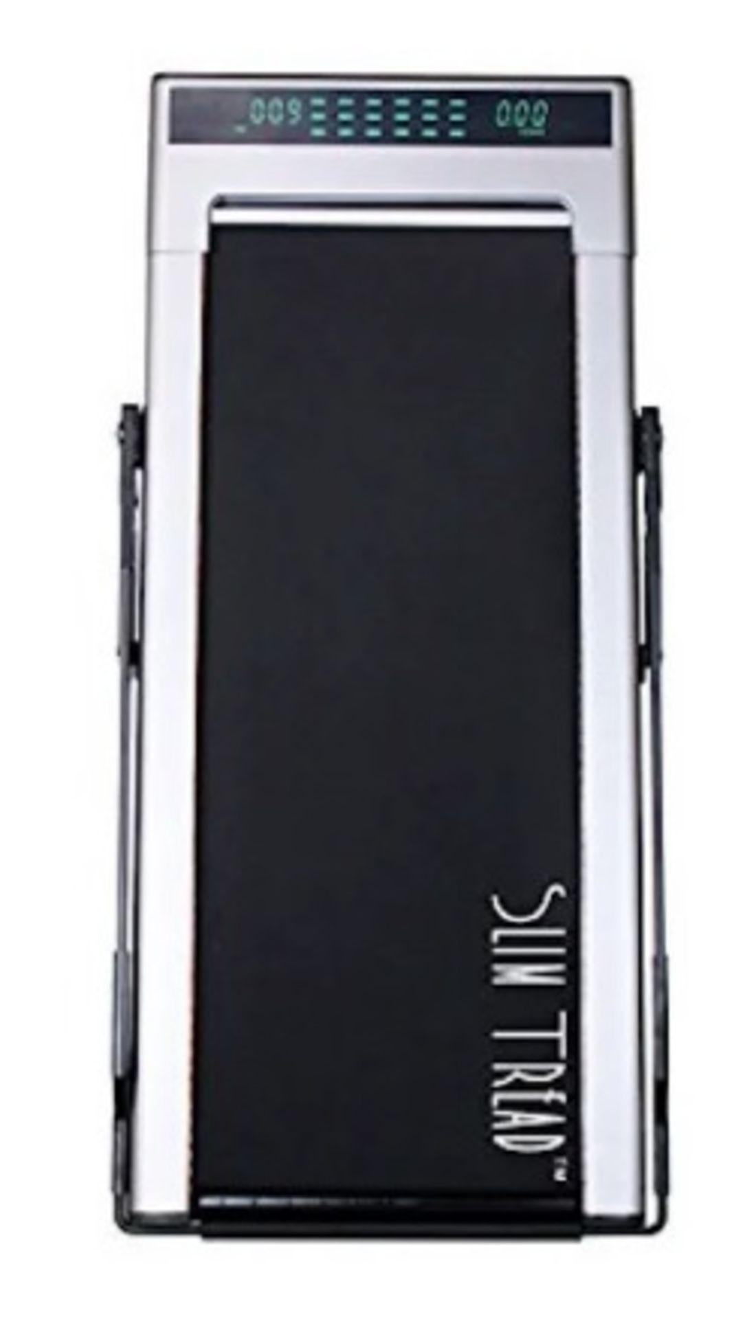 1 x Slim Tread Ultra Thin Smart Treadmill Running / Walking Machine - Lightweight With Folding - Image 2 of 19