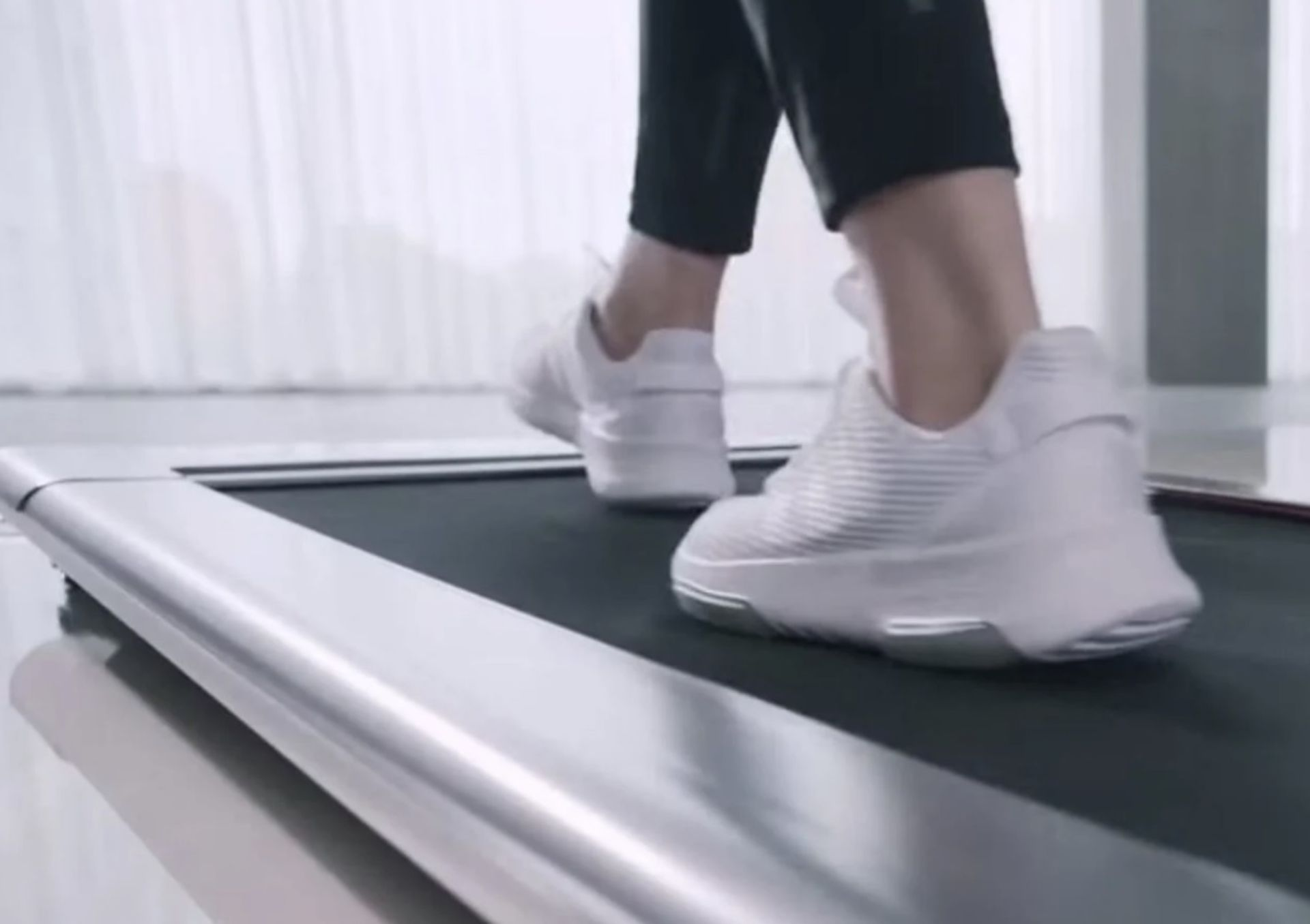1 x Slim Tread Ultra Thin Smart Treadmill Running / Walking Machine - Lightweight With Folding - Image 8 of 19
