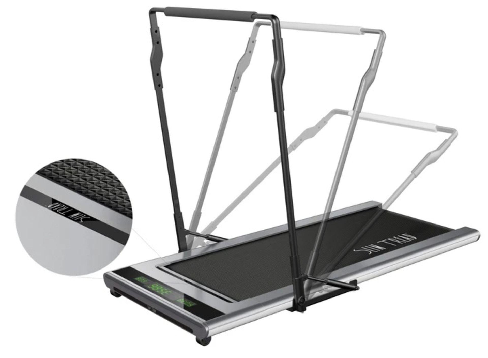 1 x Slim Tread Ultra Thin Smart Treadmill Running / Walking Machine - Lightweight With Folding - Image 17 of 23