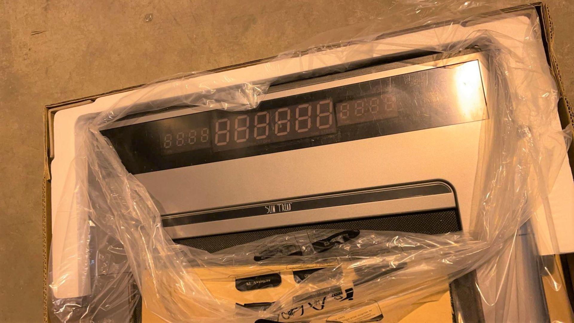1 x Slim Tread Ultra Thin Smart Treadmill Running / Walking Machine - Lightweight With Folding - Image 8 of 23