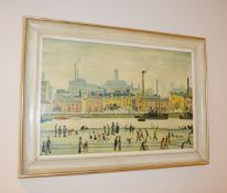 1 x Framed Lowry Art Print - Dimensions (approx.): W70 x H50 - NO VAT ON THE HAMMER - CL630