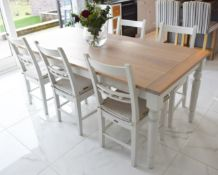 1 x Neptune Suffolk Kitchen Dining Table and Six Chairs - RRP £2,570 - Beautiful Dining Set With