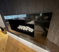 1 x Modern Built-in Fireplace With Surround - NO VAT ON THE HAMMER