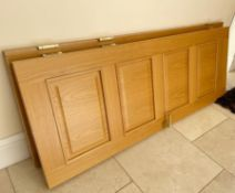 6 x Roble Solid Oak Internal Single Doors - 35mm Thickness - NO VAT ON THE HAMMER - Complete With