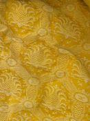 1 x Pair of Embroided Fabric Curtains With Liner - Features a Sun God Design in Yellow - NO VAT ON