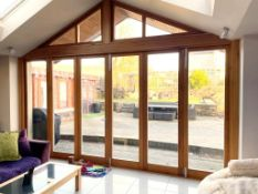 Set of 6 x Solid Wood Bi-Folding External Doors - NO VAT ON HAMMER - CL638 - Location: Bolton