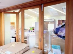 Set of 4 x Solid Wood Bi-Folding Internal Doors - NO VAT ON HAMMER - CL638 - Location: Bolton BL6