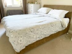 1 x Double 5ft Bed With Matching Headboard, Underbed Storage and Memory Foam Mattress - CL636 -