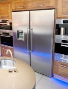 1 x LIEBHERR No-Frost 121cm Side By Side American Style Fridge Freezer - Location: Bolton BL6