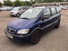 2004 Vauxhall Zafira Design 16V MPV - CL505 - NO VAT ON THE HAMMER - Locatio