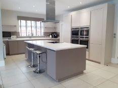 1 x SieMatic Handleless Fitted Kitchen With Intergrated NEFF Appliances, Corian Worktops And Island