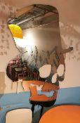 1 x Voodoo Skull Mirror in Top Hat - Size H195 x W125 cms- CL554 - Ref IM241 - Location:Altrincham