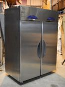 1 x Williams Garnet 2000 Two Door Upright Fish / Meat Fridge With Stainless Steel Finish - Model