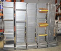 7 x Retail Slatwall Shelving Units - Very Recently Removed From A Well-known Supermarket Chain -