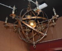 1 x Astromony Ceiling Light With Copper Finish and Candle Bulbs - CL586 - Location: Altrincham WA14