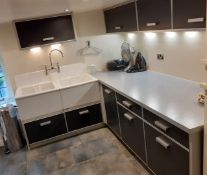 1 x Bespoke Utility / Cloak Room Featuring A Wealth Of Storage & Twyford Belfast Fireclay Sink Units