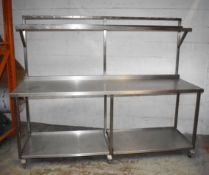 1 x Stainless Steel Donut Jamming Bench - H87/167 x W210 x D70 cms - Recently Removed From Major