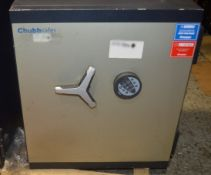 1 x CHUBB Safe With Keypad - Dimensions: H70 x W60 x D51.5cm - Very Recently Removed From A