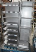 4 x Retail Slatwall Shelving Units - Dimensions: H80 x W40 x D36cm - Very Recently Removed From A