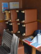 5 x Brown Faux Leather Stools - CL586 - Location: Altrincham WA14 This item is to be removed from a