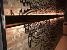 3 x Horizontal Wall Lights With Mirrored Finish - Each Light Measures 135 x 17 cms - Ref: RB254 -