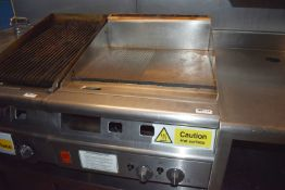 1 x Falcon Half Ribbed / Half Solid Top Gas Griddle - Size H41 x W60 x D78 cms - Ref: RB113 -