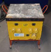 1 x Site Power Cluster Transformer 240v to 110v H57 x W50 x D50 cms PME190
