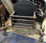 1 x Antique Fire Grate - Dimensions: 63 x 36 x Height 59cm - Ref: JB266 (F) - Pre-Owned - NO VAT