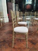50 x Gold wash Chiavari chairs with cushion - CL573 - Location: Leicester LE1