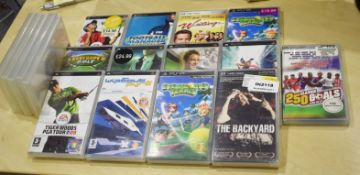 Assorted Lot of Sony PSP Handheld Games Console Games and Films - Includes 18 Games and Films Plus