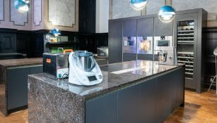 1 x SieMatic Fitted Kitchen in Basalt Grey Matt With Handleless Doors - Features Gaggenau