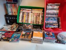 Assorted DVDs and CDs - Includes 64 DVDs, 6 Box sets And 50 CDs - NO VAT ON THE HAMMER - CL607 -