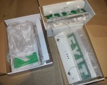 3 x Suspended Emergency Exit Illuminated LED Signs New in Boxes PME366