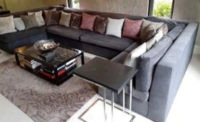 1 x Corner Sofa In 4 x Sections - Upholstered In A Rich Grey Chenille *NO VAT ON HAMMER*