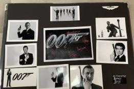 1 x Signed Autograph Picture - JAMES BOND 007 - Multi Cast James Bond Autographs By 6 James Bond