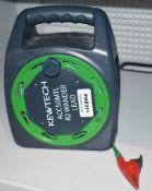1 x Kewtech ACC50MTL 50m R2 Wander Test Lead Extension Reel RRP £85 PME311